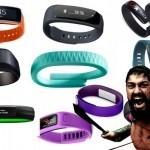 Comparativa de pulseras de actividad: Garmin Vivofit, Nike Fuelband, Fitbit Charge HR, Sony Smartband y Jawbone UP