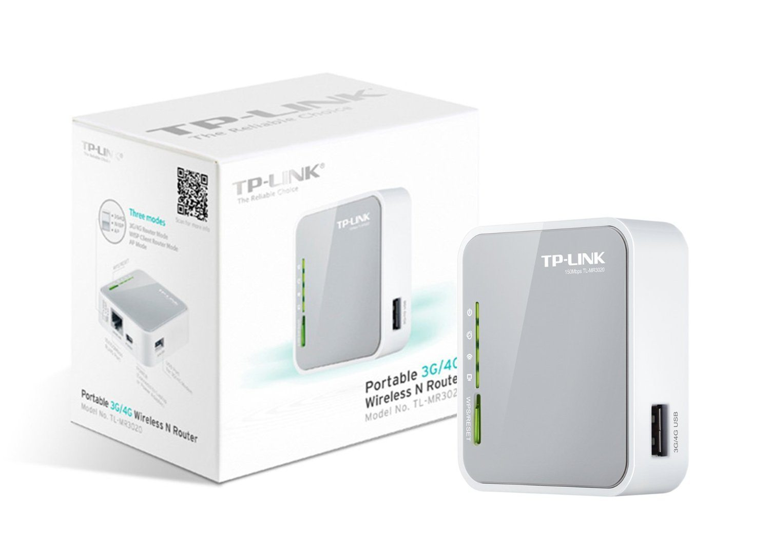 Router inalámbrico TP-LINK TL-MR3020 N 3G 4G 2