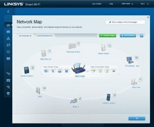 Router Linksys WRT1900AC network map