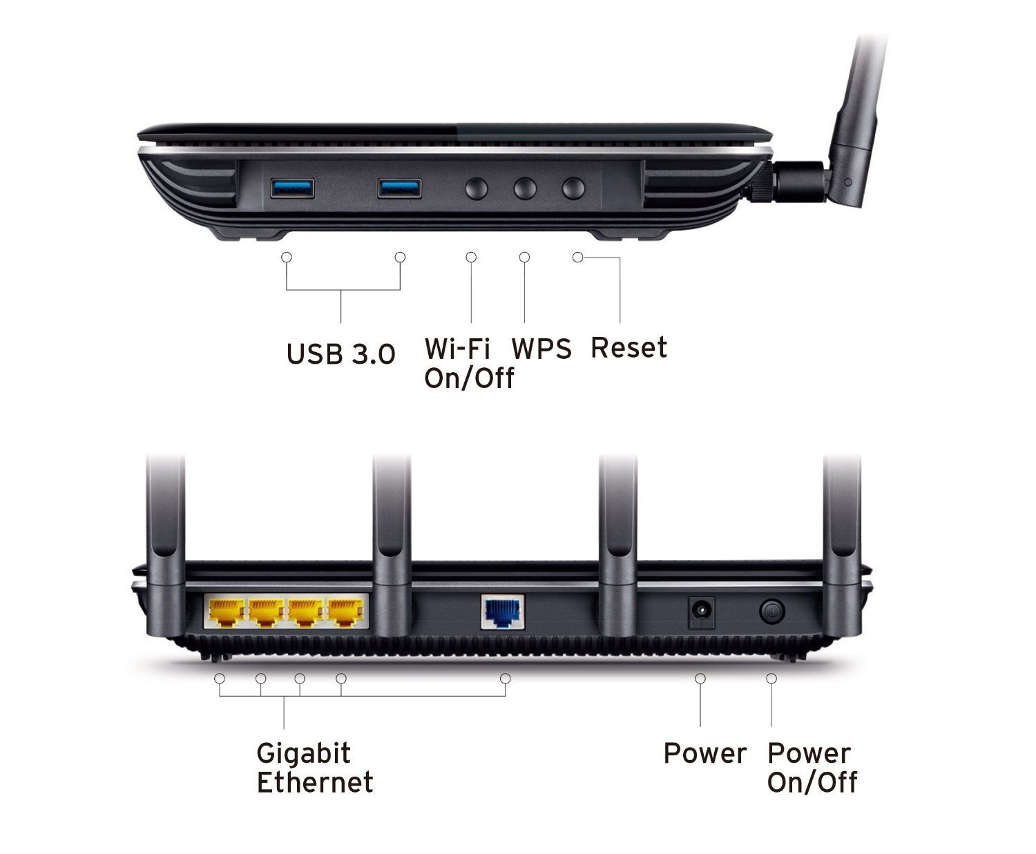 Mejor router TP Link Archer C2600 back