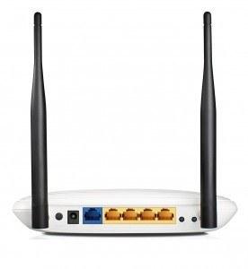 Router más barato de 2016 - router TP Link TL-WR841N - parte trasera