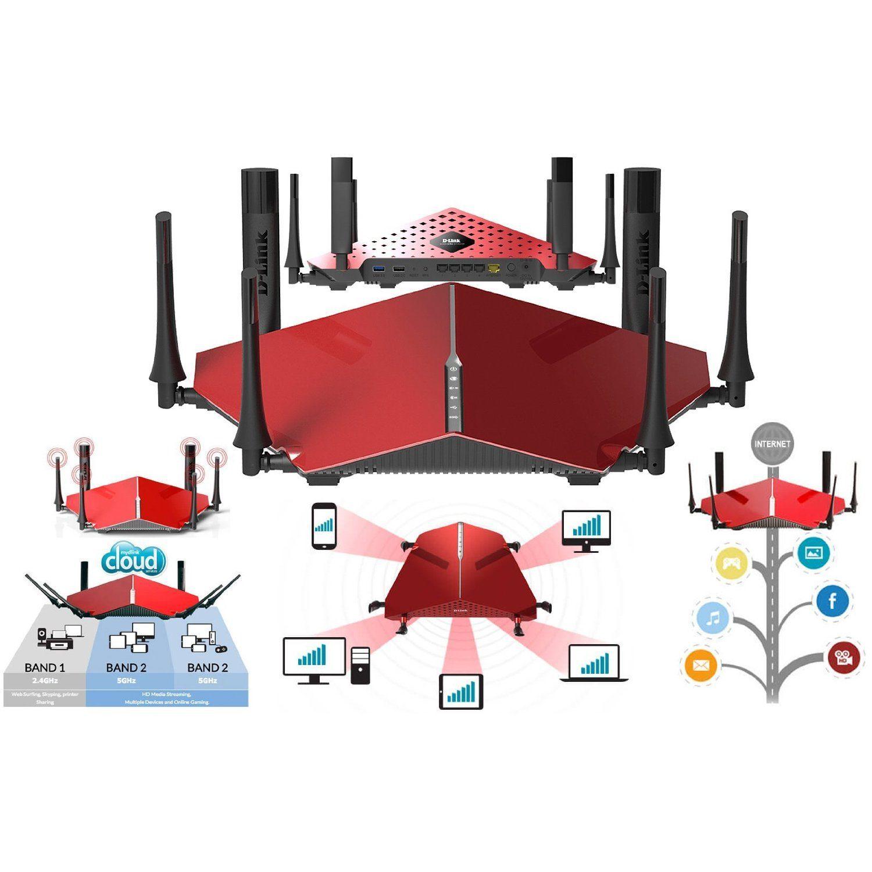 mejor router tribanda de 2016 - Router Ultra WiFi D-Link DIR-890L AC3200 - 2