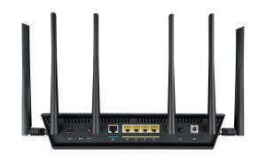 Router WiFi Asus RT-AC3200 - parte trasera