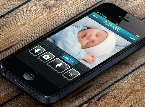 Cámara WiFi de vigilancia con visión nocturna D-Link DCS-932L - app