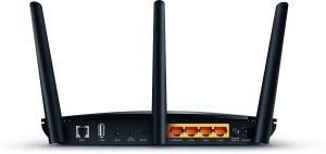 router TP Link Archer D2 para ver películas online - trasera