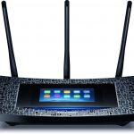 Router TP-Link AC1900 Mbps con pantalla táctil para una configuración sencilla