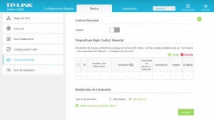 Configuración TP Link control parental