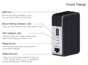 Antrouter R1, un Router WiFi que mina Bitcoin mientras está en uso